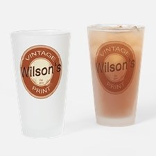 Wilsons Vintage Print.gif Drinking Glass