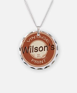 Wilsons Vintage Print.gif Necklace