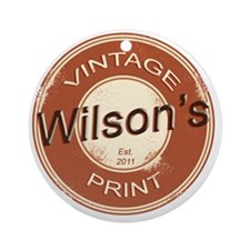 Wilsons Vintage Print.gif Round Ornament