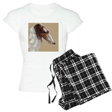 BorzoiHeadTanBkgnd Pajamas