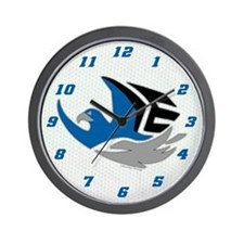 Eagles B-Ball Wall Clock