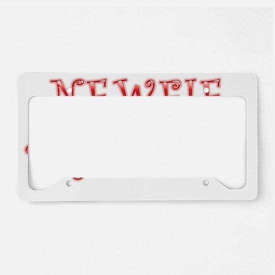 Newfie Princess License Plate Holder