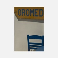 Table and restaurant signs, Kos:  Rectangle Magnet