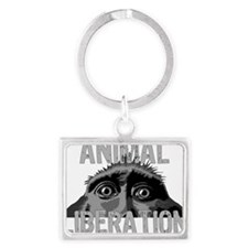 animal-liberation-06 Landscape Keychain