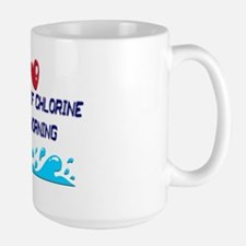 chlorine in the morning Large Mug