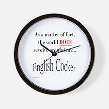English Cocker World Wall Clock