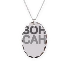 soh cah toa light Necklace Oval Charm