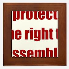 right_to_assemble Framed Tile
