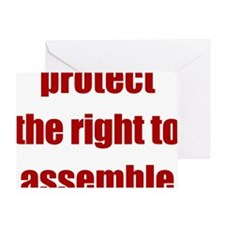 right_to_assemble Greeting Card