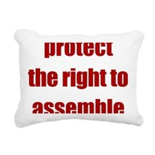 right_to_assemble Rectangular Canvas Pillow