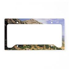 Greece, Delphi. Greek Theater License Plate Holder