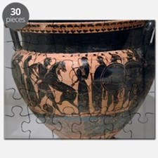 Krater painted with black figures represent Puzzle