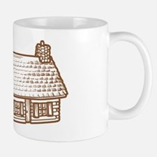 log(cabin) outline dark Mug