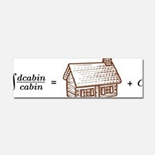 log(cabin) outline Car Magnet 10 x 3