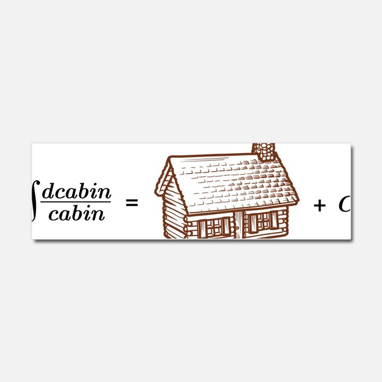 log(cabin) outline Car Magnet 10 x 3