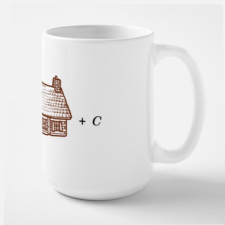 log(cabin) outline Large Mug