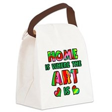 home where art is Canvas Lunch Bag