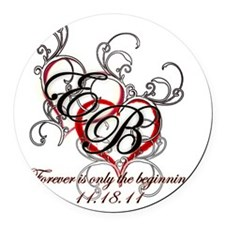 Breaking Dawn Hearts copy Round Car Magnet