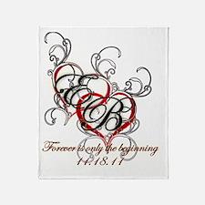 Breaking Dawn Hearts copy Throw Blanket