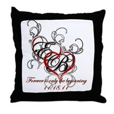 Breaking Dawn Hearts copy Throw Pillow