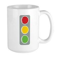 Traffic Lights with three colours Mugs