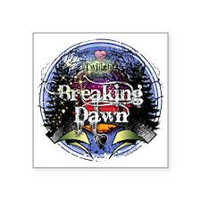 "twilight breaking dawn blue Square Sticker 3"" x 3"""