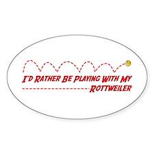 Rottweiler Play Oval Decal