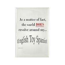 Toy Spaniel World Rectangle Magnet