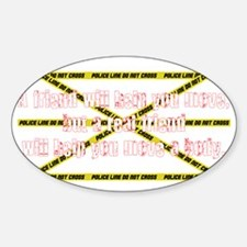 move a body 2 Sticker (Oval)