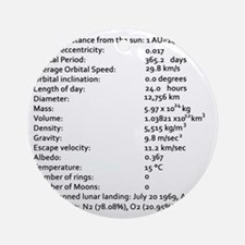 Earth Facts-blackLetters copy Round Ornament
