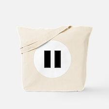 PauseBlack Tote Bag