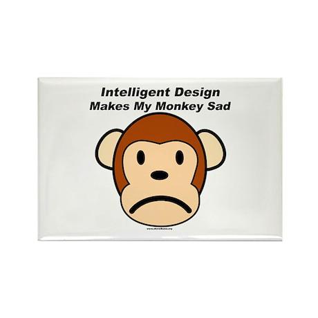 Intelligent Design Makes My Monkey Sad Rectangle M