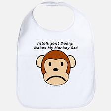 Intelligent Design Makes My Monkey Sad Bib