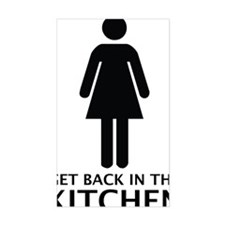 get back in the kitchen Decal