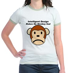 Intelligent Design Makes My Monkey Sad Jr. Ringer