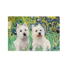 MP-rises-Westies 3and11-smaller Rectangle Magnet