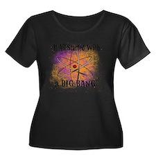 started  Women's Plus Size Dark Scoop Neck T-Shirt