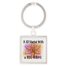 started big bang Square Keychain