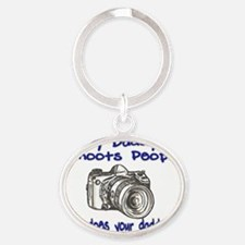 Shoots People daddy blue Oval Keychain