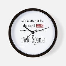 Field Spaniel World Wall Clock