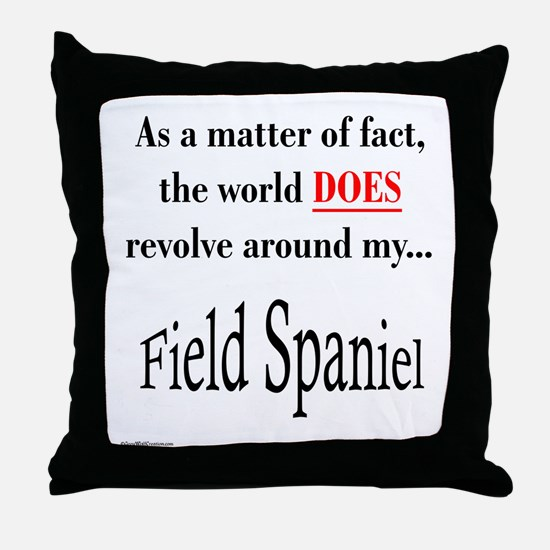 Field Spaniel World Throw Pillow
