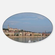 Budapest. Early morning from Pest a Sticker (Oval)