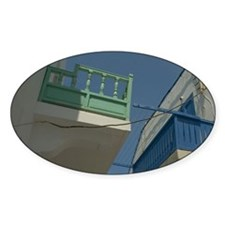 Nisyros: painted wooden balconies o Decal
