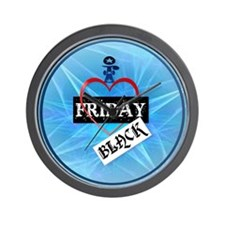 I Love Black Friday-circle Wall Clock
