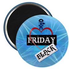 I Love Black Friday-circle Magnet