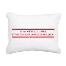 Amiga Guru-white print Rectangular Canvas Pillow