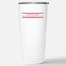 Amiga Guru-white print Travel Mug