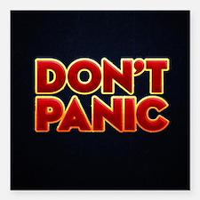 "dont panic Square Car Magnet 3"" x 3"""