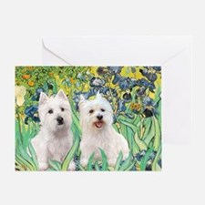 MP2-rises-Westies 3and11-smaller Greeting Card