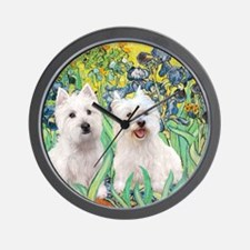 MP2-rises-Westies 3and11-smaller Wall Clock